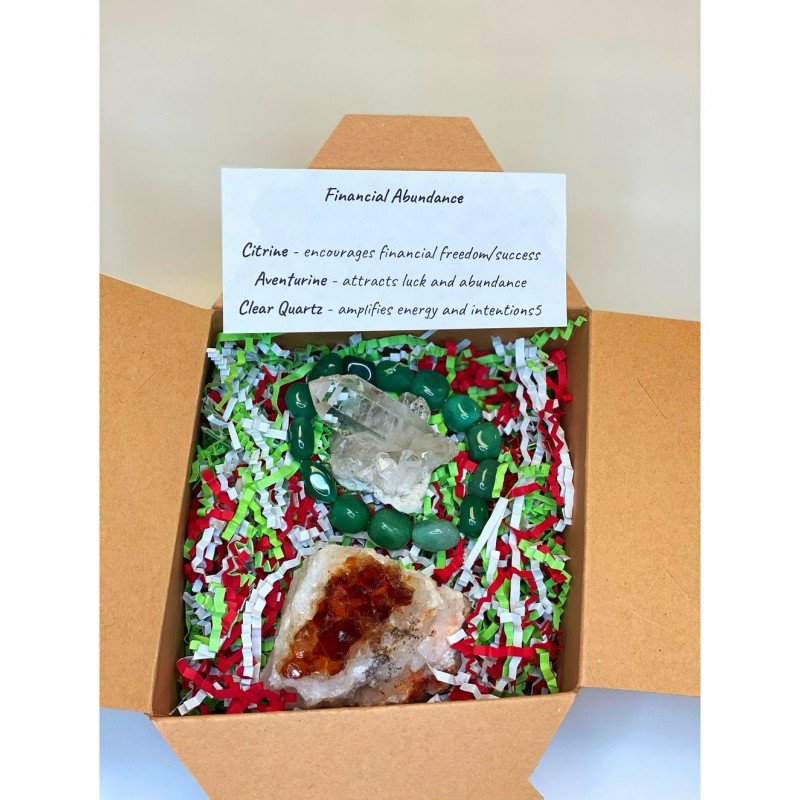 Healing Crystals - Financial Abundance Gift Set
