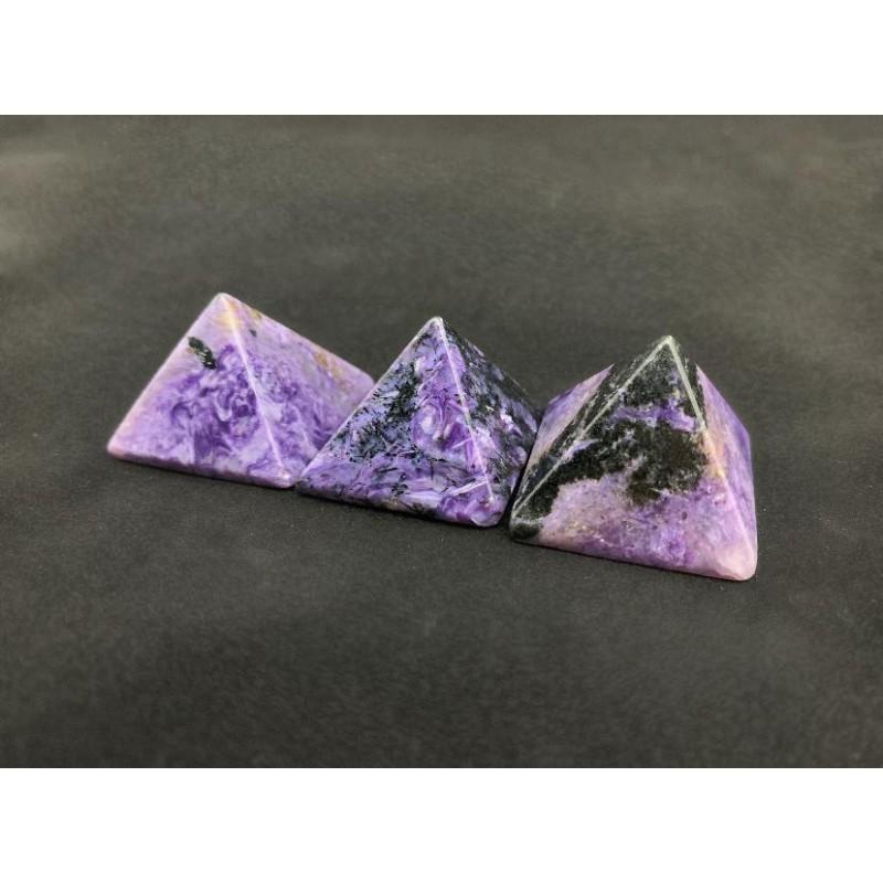 Healing Crystals - Charoite Pyramids