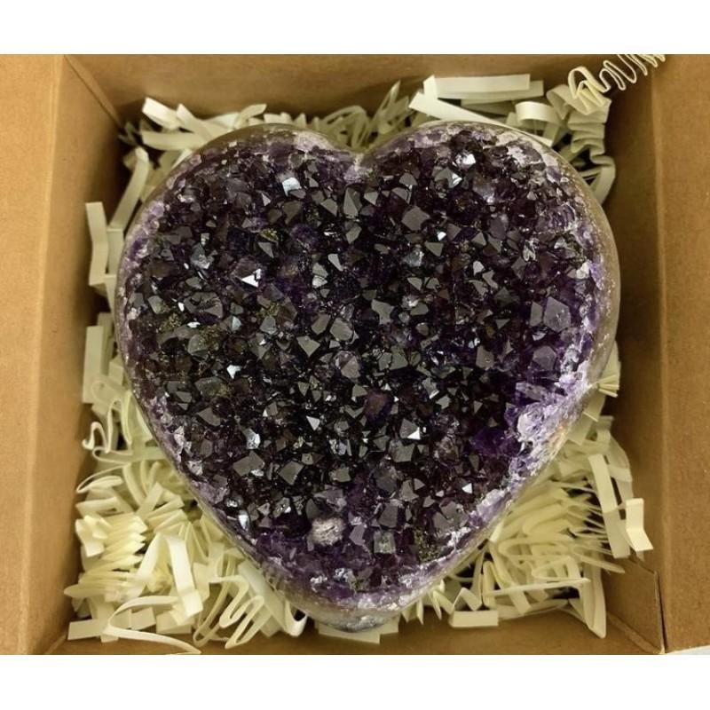 Healing Crystals - Amethyst Heart Holiday Gift Box