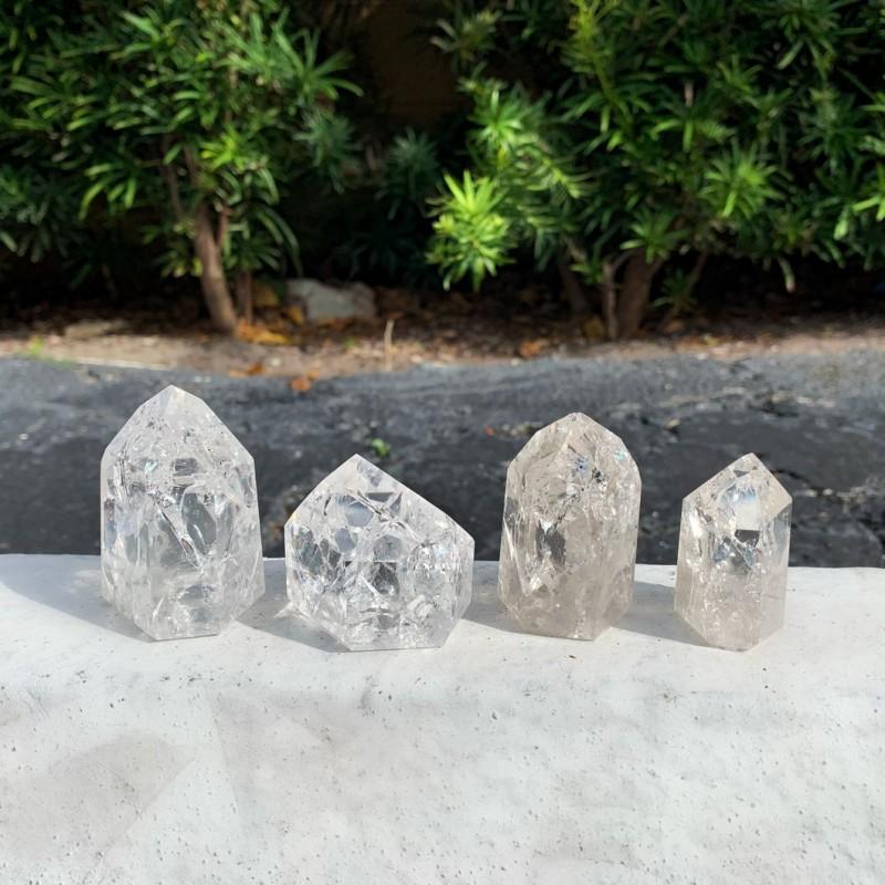 Healing Crystals - Brazilian Crackle Quartz Towers
