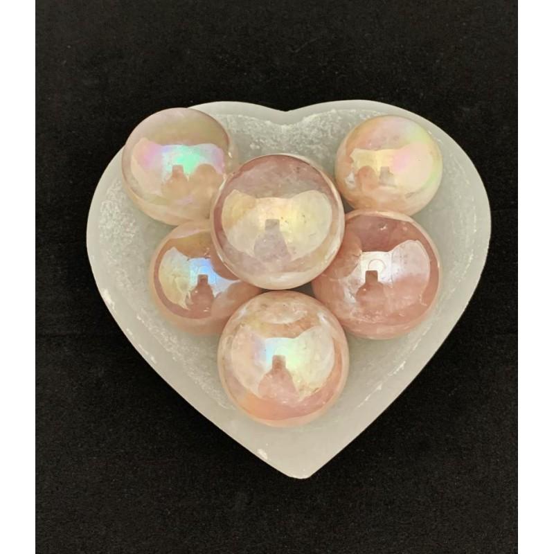Healing Crystals - Aura Rose Quartz Spheres
